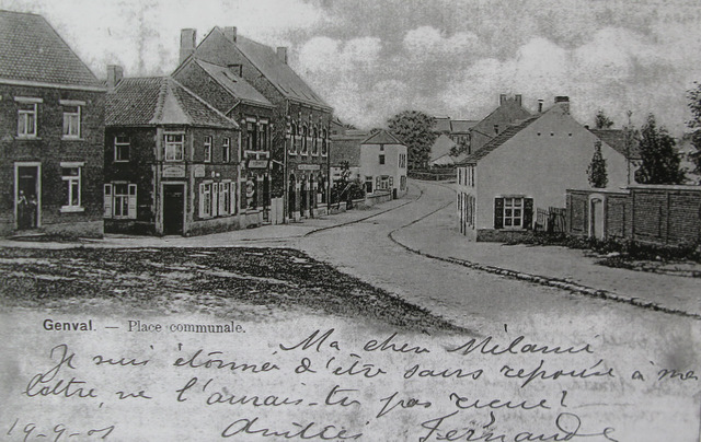 Place communale 1901 Collection Cercle d'Histoire de Rixensart