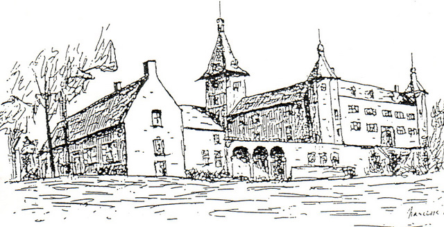 Château de Rixensart dessin Narcisse Poplemont © SI Rixensart