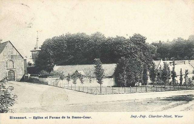 149. Allée d'arbres Château de Rixensart début XX