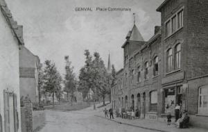 genval,place communale,monuments,horeca,commerces