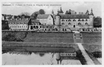 Château de Rixensart vu depuis la Drève du Calvaire c PR-2