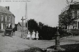 genval,place communale,bornes-fontaine
