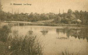 1542 - Les Etangs (étang Gillet) ligne chemin de fer 1932 Rixensart c JCR Martin.jpg