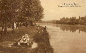 genval,lac de genval,pêcheurs