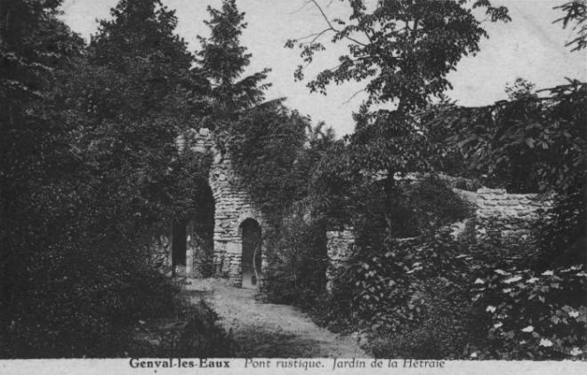 1394. Pont rustique Jardin de la Hêtraie Genval 1933 c JCR BOU.jpg