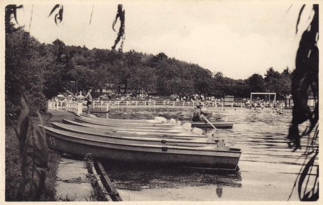 Canotage Renipont plage coll. Jean-Louis Lebrun