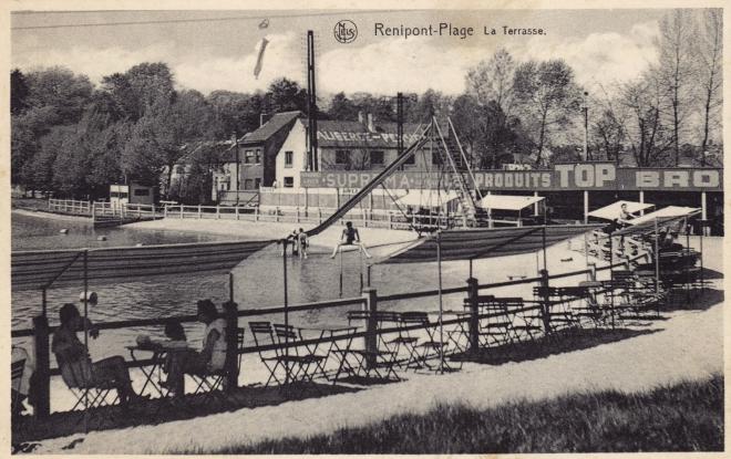 La Terrasse Renipont plage 1959 coll. Jean-Louis Lebrun