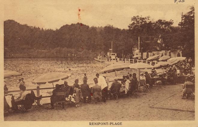 Renipont plage 1937 coll. Jean-Louis Lebrun