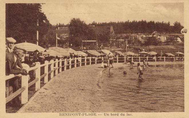 Renipont plage 1938 coll. Jean-Louis Lebrun