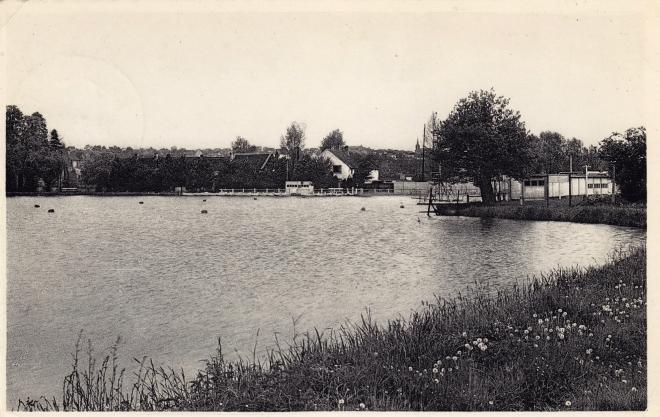 Renipont plage 1959 coll. Jean-Louis Lebrun