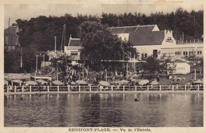 Vu de l'entrée Renipont plage 1942 coll. Jean-Louis Lebrun
