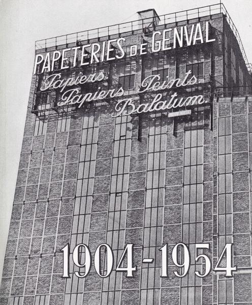 1535. 1954 3 octobre Cinquantenaire des Papeteries faire-part c Fonds Lannoye (Ed. Rétro Rixensart) 1C2.jpg