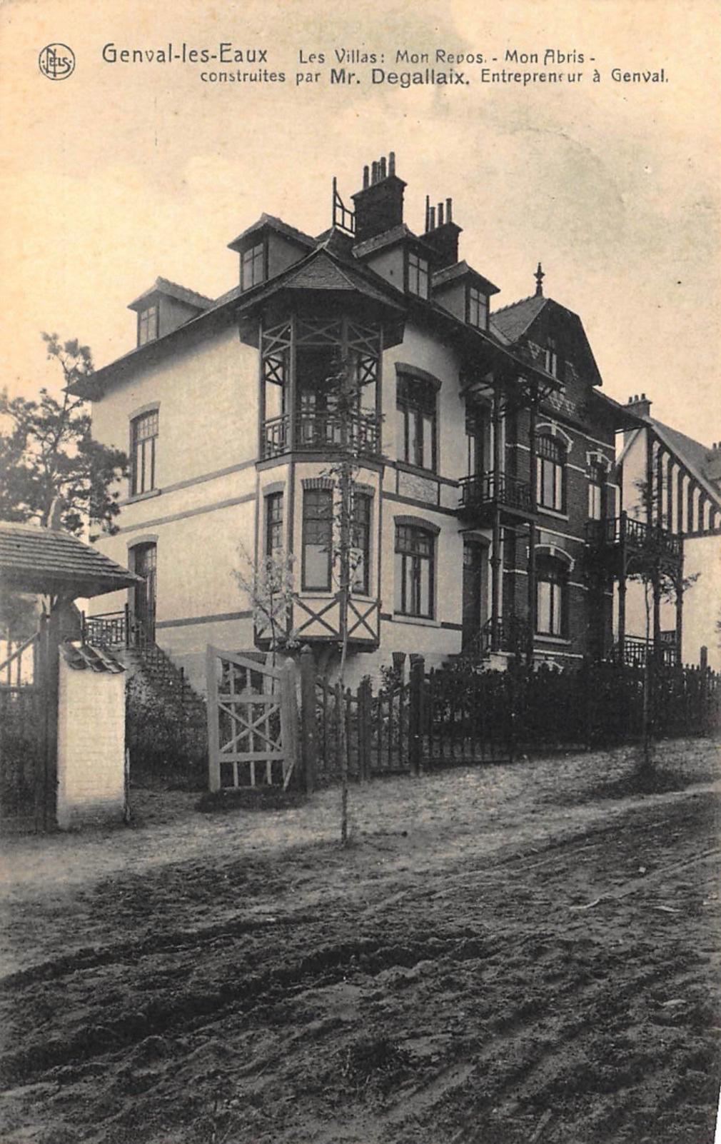 Villas Mon Repos Mon Abris construites par M. Degallaix Genval-les-Eaux (1)