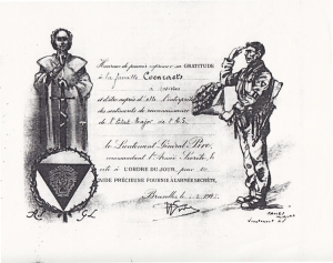 Citation à l'ordre du jour - Gratitude envers la famille Coenraets 1 janvier 1945 c Michel Coenraets.jpeg