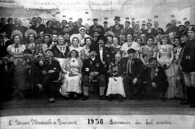 1938 Bal de l'Union Musicale de Rixensart Collection Robert Delbrassinne