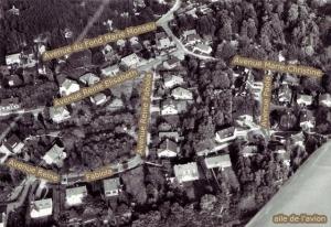 rixensart,vue aerienne,quartier royal,avenue reine fabiola