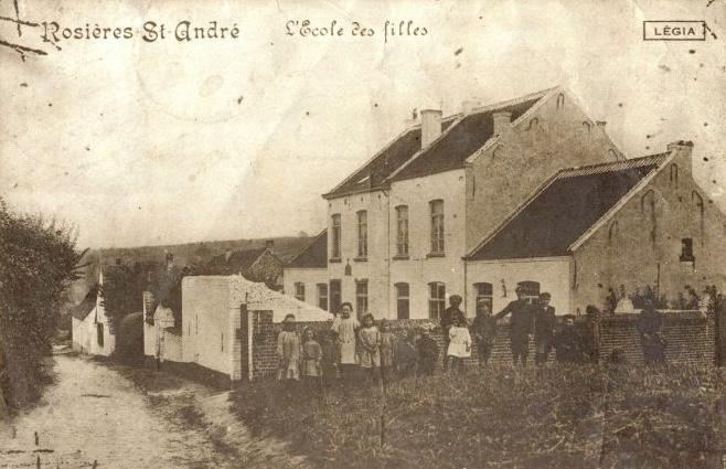 ecoles,rosieres,rue de la hulpe,ecoline,école des filles de rosières,école communale de rosières