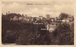 genval,maubroux,tour à charbon,église saint-pierre,chemin de la source