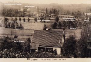 rixensart,étangs du lido,vallée de la lasne,route de rixensart,rue de limalsart,avenue monseigneur,la lasne,château d'eau,plagniau