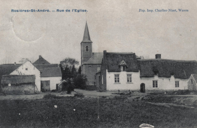 Rue de l'Eglise - Rosières St. André Collection Michel Delabye