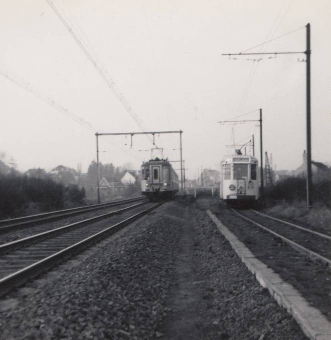180502 Ligne vicinale Rixensart 22 février 1964 SNCV motrice type S Ligne 161 Am 1956 Budd Photo P De Backer (1)