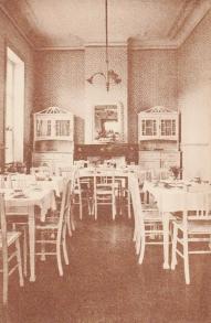 Hôtel de l'Yser salle à manger 1925