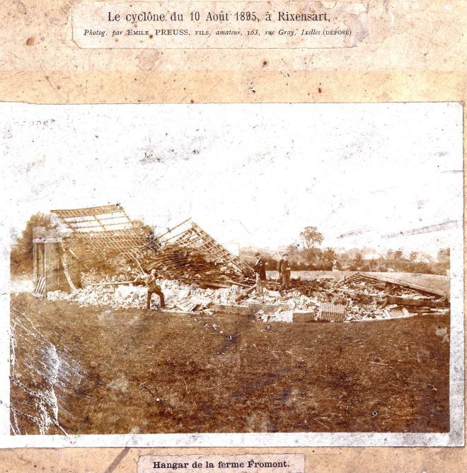 180810 Rixensart Cyclone du 10 août 1895 © Bernard Collin Archives de Merode Trélon (via Joël Danlou)
