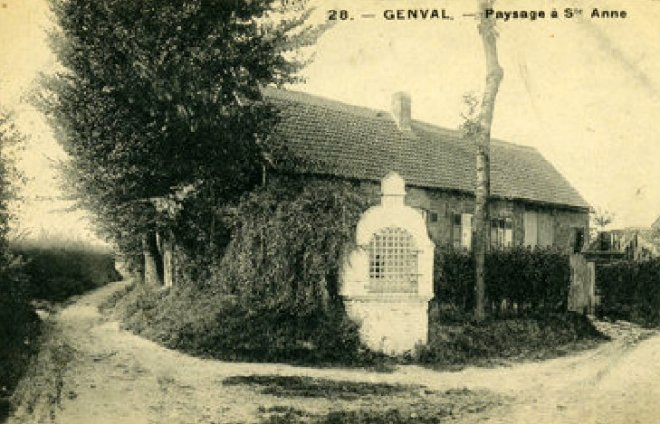Chapelle Sainte-Anne au coin de la rue du Mahiermont et de la rue du Gros Tienne à Genval