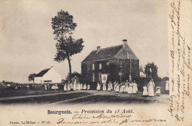 Procession du 15 août à Bourgeois 1903 coll. Jean-Louis Lebrun