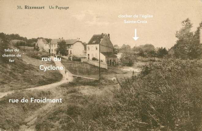 Un paysage (rue du Cyclone en 1929) c JCR Martin légende