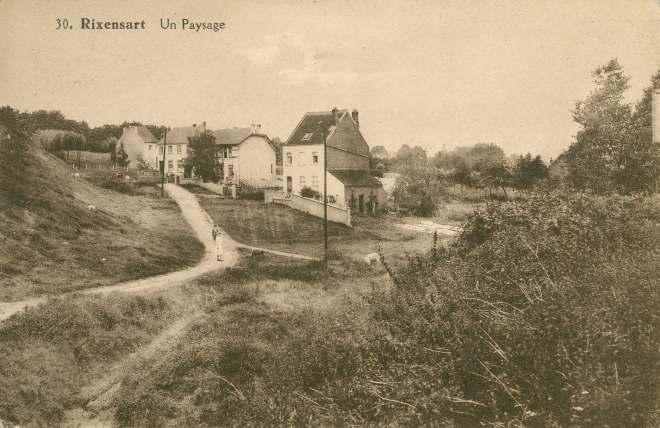Un paysage (rue du Cyclone en 1929) c JCR Martin