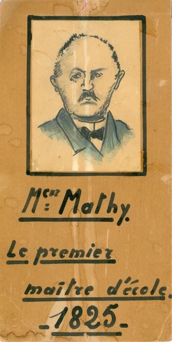 1355C. 1825 Premier Maître d'Ecole à Rixensart Mr Mathy premier maître d'école 1825