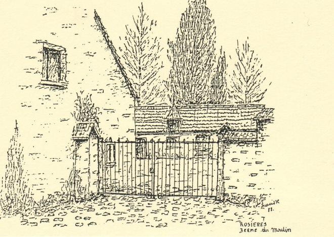 374. Ferme du Moulin à Rosières dessin 1988 Narcisse Poplemont 2 © SI Rixensart