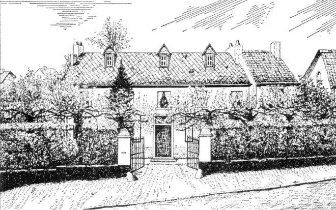 952. Première maison communale de Rixensart rue de l'Eglise 7 à Rixensart