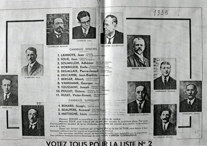 1938 Elections à Genval 16 octobre 1938 coll. Anne Fortemps