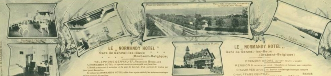 Publicité du Normandy Hotel vers 1910