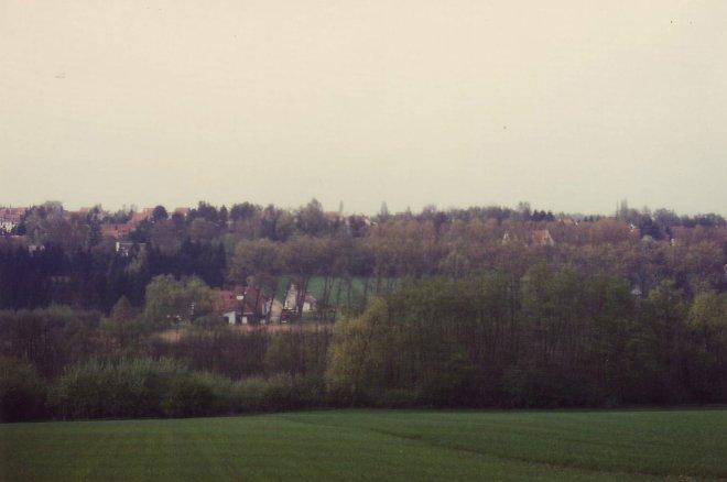Rue de la Hulpe Drève du Fory vue du Plagniau 1992-1995 © Hommes et Patrimoine