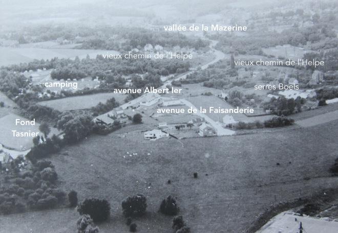 Vue aérienne avenue Albert Ier légende 25.8.1965 c CHR