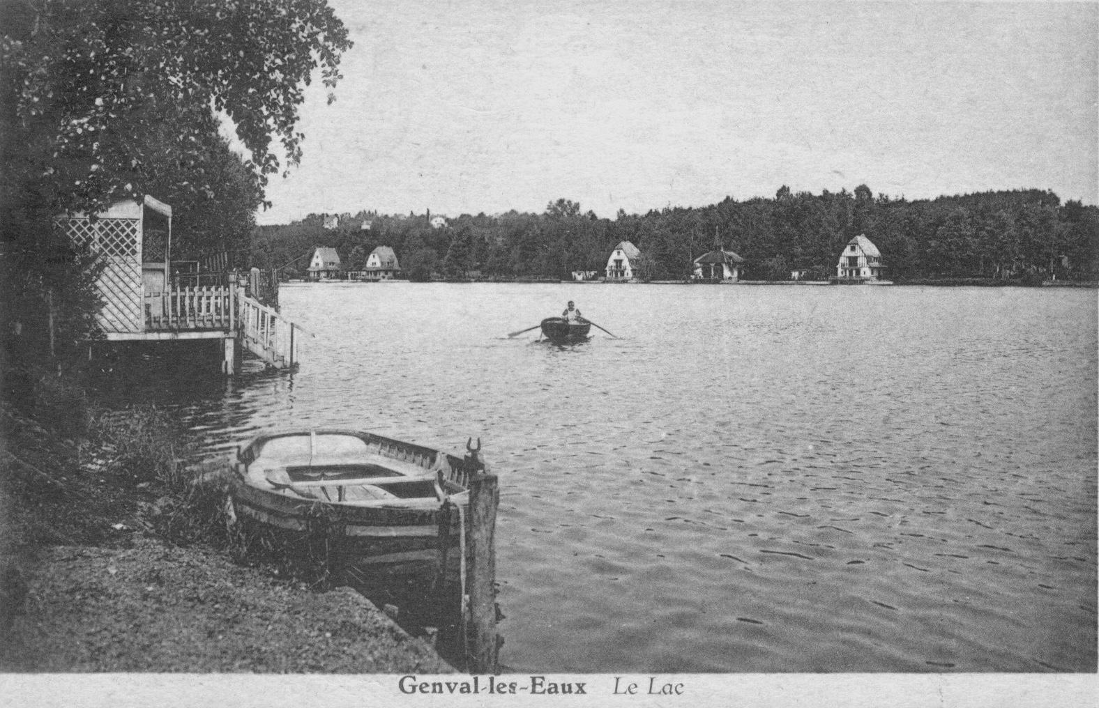1306 Le lac Genval les Eaux 1933 c JCR BOU