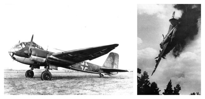 1383. Un avion dans le lac JUnkers JU188