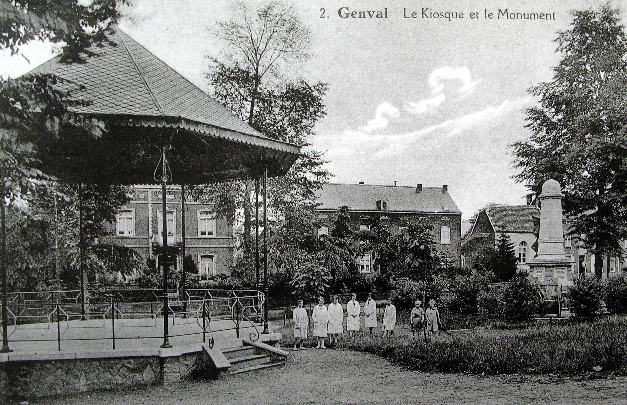 610. Le Kiosque et le Monument Collection Cercle d'Histoire de Rixensart copie