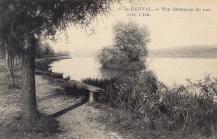1919 | Vue générale du lac de Genval avec l'île,coll. Anne-Marie Delvaux