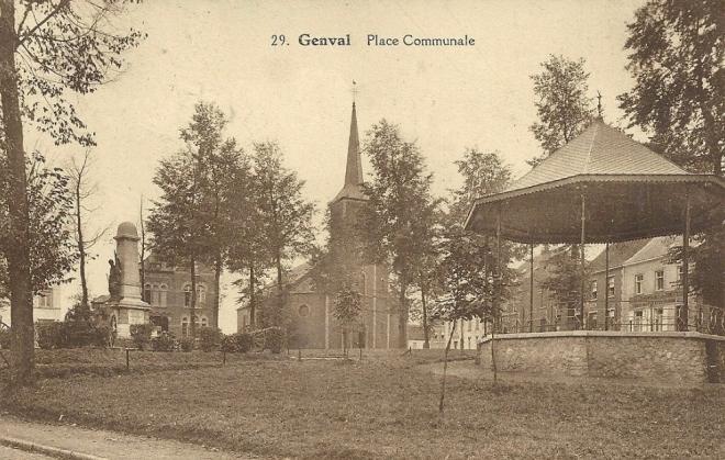 avant 1928 Place communale à Genval (1)