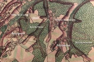 bois du héron rixensart (atlas ferraris 1777)