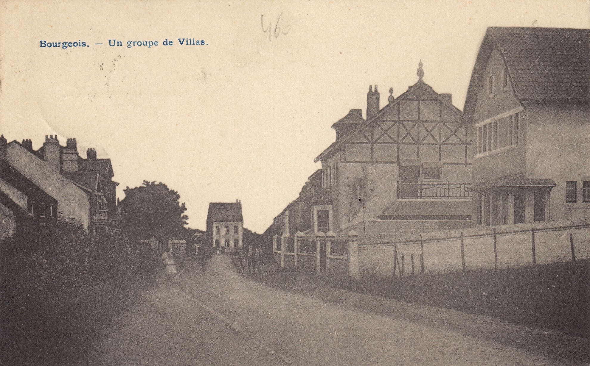 1919 Un groupe de villas Bourgeois rue Haute coll. Jean-Louis Lebrun