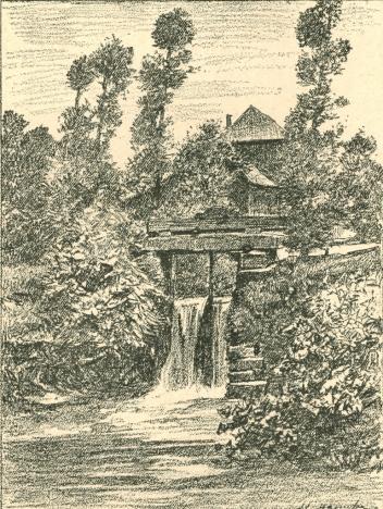 """Moulin de Genval - Lithographie du peintre Adolphe Jean Hamesse (1849-1925), publiée dans 'Le Brabant en images' (1). Elle est accompagnée de la notice suivante : """"Le moulin de Genval, sur la Lasne, présente un aspect des plus agréables. La Lasne prend sa source à Plancenoit, traverse Genval et se jette dans la Dyle à Rhode-Sainte-Agathe après un parcours de 29 kilomètres. Le village de Genval, un des plus jolis du Brabant wallon, a pris un grand développement depuis quelques années. On y fait des captations d'eau et une société a même exploité celle-ci qu'elle vend comme eau minérale. De nombreuses villas ont été bâties à Genval qui est devenu un lieu de villégiature très à la mode. Les habitants de Genval cultivent le tabac d'Obourg et sont d'enragés colombophiles"""". Voir également les photos et notices RR 313, 658 et 826. ----- (1) VAN GELE Aug., Le Brabant en images, Ed. J. Lebègue, Bruxelles"""