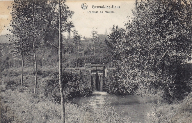 Ecluse du Moulin 1907 coll. Jean-Louis Lebrun