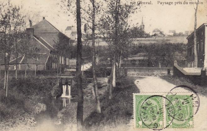 Paysage pris du moulin 1911 coll. Jean-Louis Lebrun