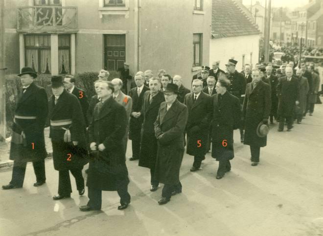12. Funérailles Dr Lucien Dessy mars 1947 Collection Dupuis Delbrassinne