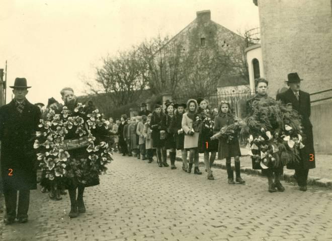13. Funérailles Dr Lucien Dessy mars 1947 Collection Dupuis Delbrassinne